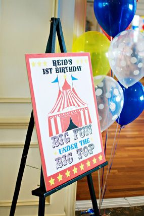 Personalize BIG Top WELCOME Circus Banner Sign Birthday party decoration