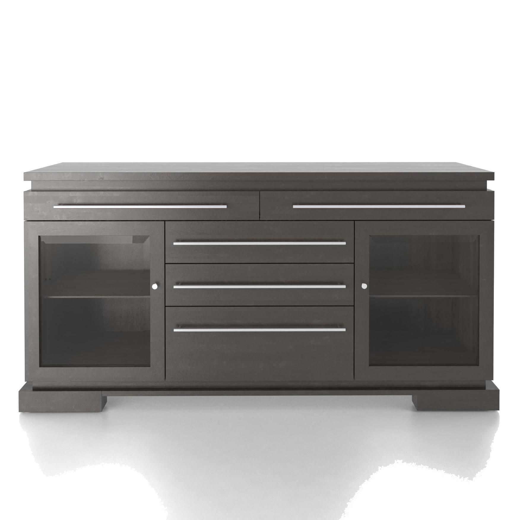 Custom Dining Modern Customizable Buffet With 2 Glass Doors By Canadel At Darvin Furniture Furniture Home Furnishings Buffet