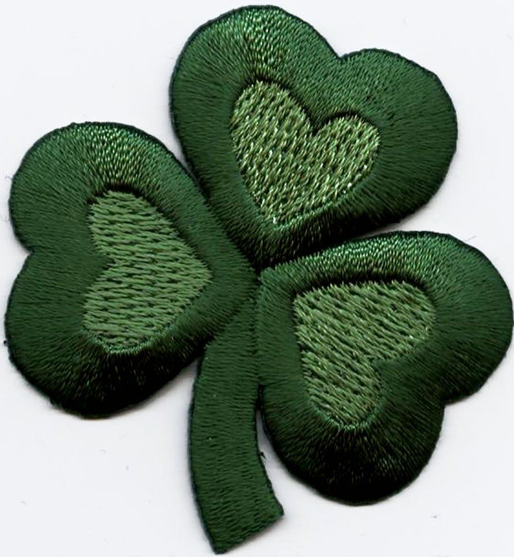 Large Irish//Heart//Shamrock//St Patricks Day Iron on Applique//Embroidered Patch