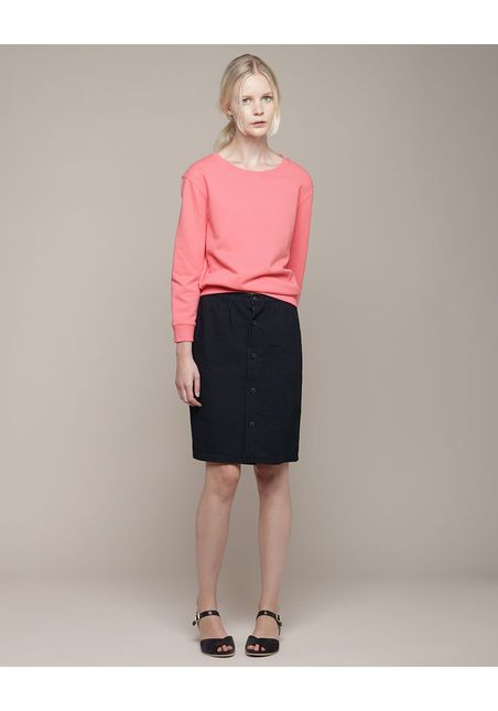 A.P.C. Long Buttoned 50s Skirt