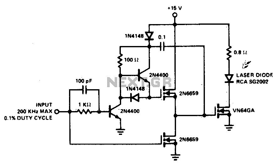 High-speed laser diode driver