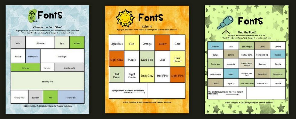 All About Fonts--Skills Bundle for Computer for use in