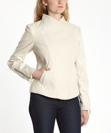 Look what I found on #zulily! Oatmeal Envelope Collar Coat by Kensie #zulilyfinds