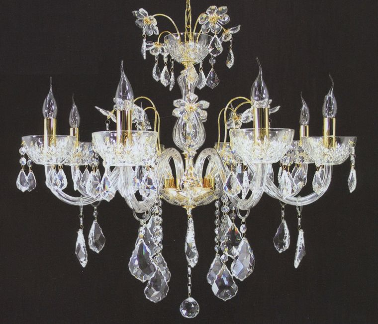 French Floral Crystal Chandelier French Provincial Furniture