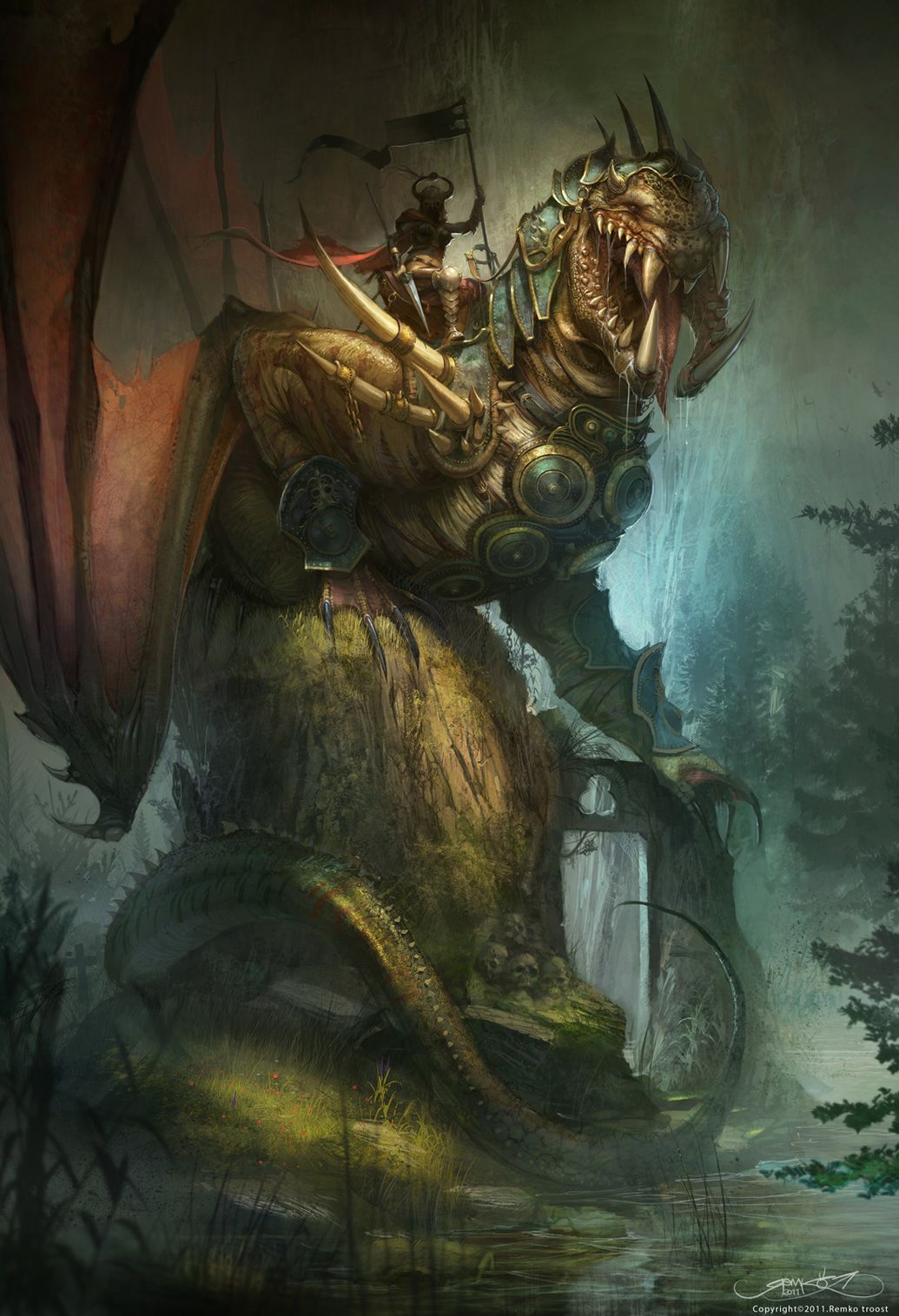 Iracnory - Last Female dragon by Okmer
