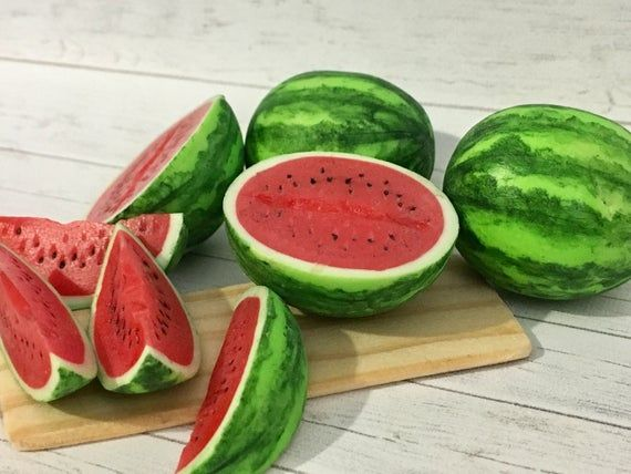 5 watermelon miniature slice for dolls,dollhouse accessories/ Fake  food in Scale 1/12 and 1/6 #dollhouseaccessories