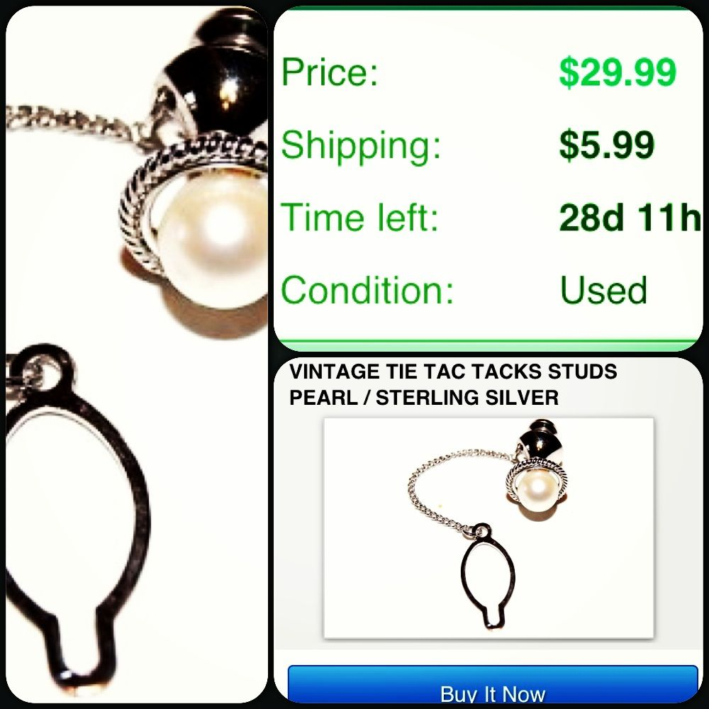 #Vintage #vintagetietack #tie #tie tack #tie tac #pearl #silver #bling #mensaccessories #mensstyle #mensfashion #dressy http://item.mobileweb.ebay.com/viewitem?itemId=321108216578 #instacollage