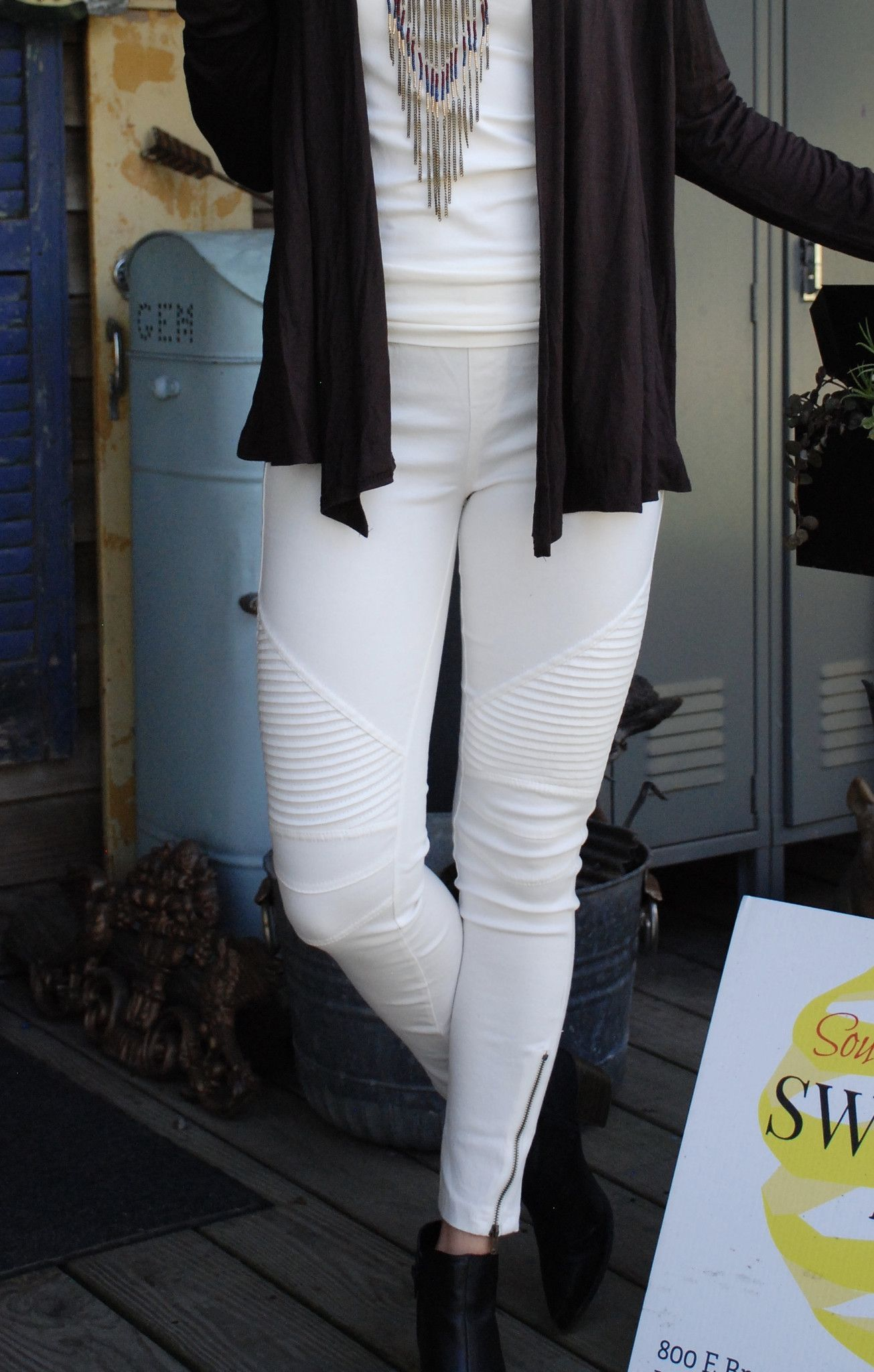 Moto Jeggings Winter White