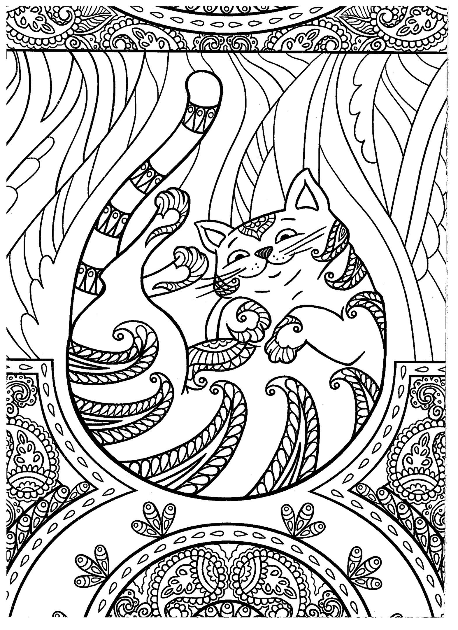 Cat coloring page Kids coloring