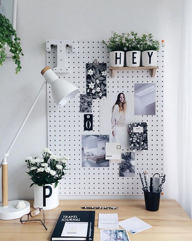 30+ Modern Home Office Decor Ideas With Small Plants College - Home Office Decor Ideas