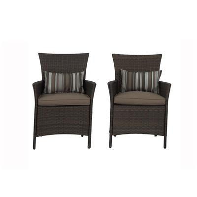 Hampton Bay Tacana 2 Pack Dining Chairs Frs50421f Home Depot