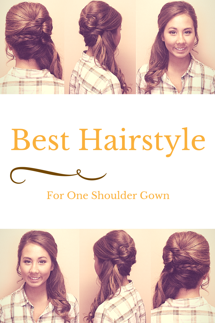 how to wear hair with a one shoulder gown? | prom