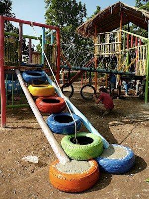 neumaticos reciclados para un parque infantil