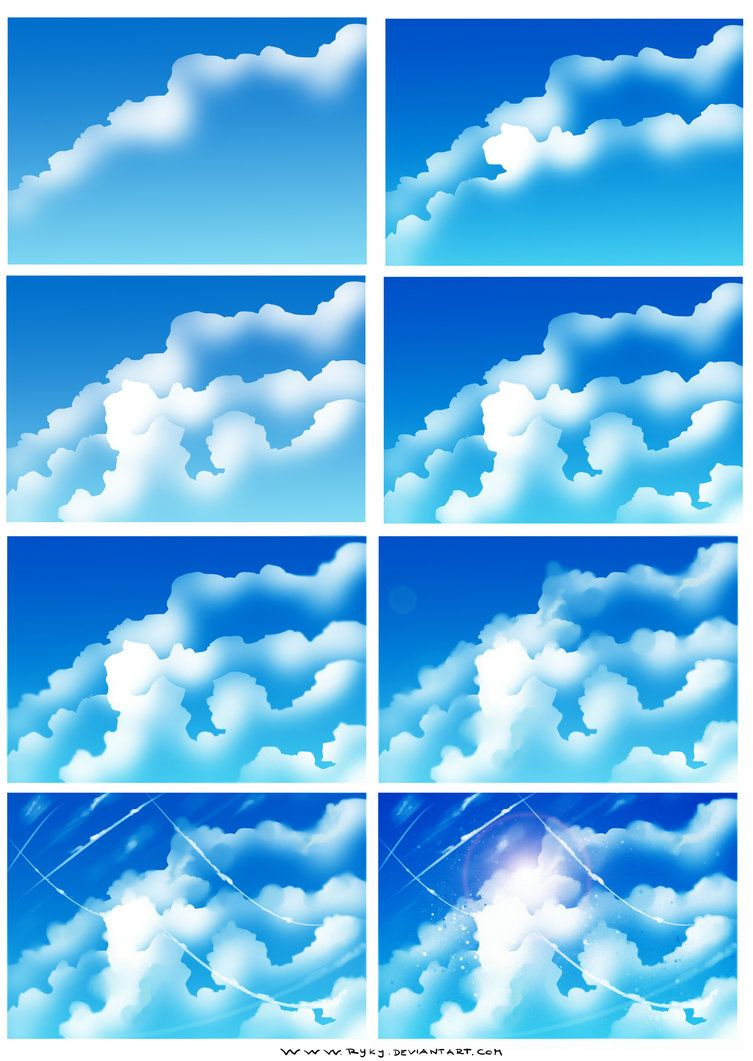 How I Draw Clouds Cloud Drawing Clouds Digital Painting Tutorials