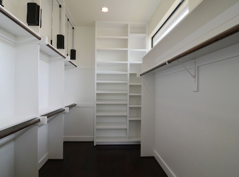 Contemporary Closet With Hafele Hardware Heavy Duty Pull Down Closet Rod,  California Closets Custom Walk In Closet