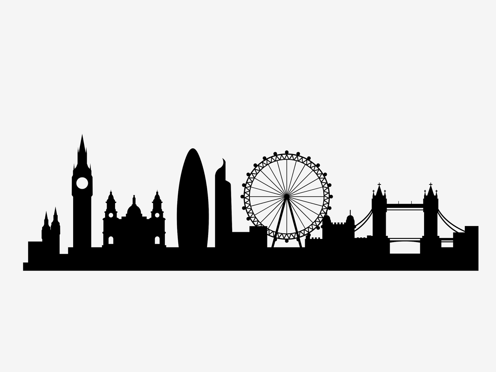 Silloette Of London Skyline London City Skyline Svg London Skyline Silhouette London Skyline Tattoo London Drawing