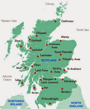 Map Of Scotland And Major Towns And Cities Scotland Map