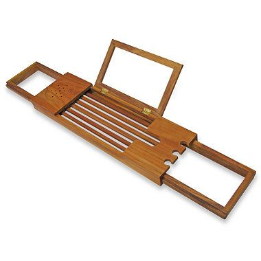 Teak Tub Caddy Bedbathandbeyond Com Bathtub Caddy Shower