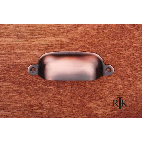Antique Copper Flat Box Cup Pull Pulls Drawer Cabinet Hardware & Knobs  Kitchen - Antique Copper Flat Box Cup Pull Pulls Drawer Cabinet Hardware