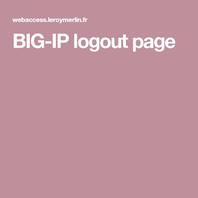 Big Ip Logout Page