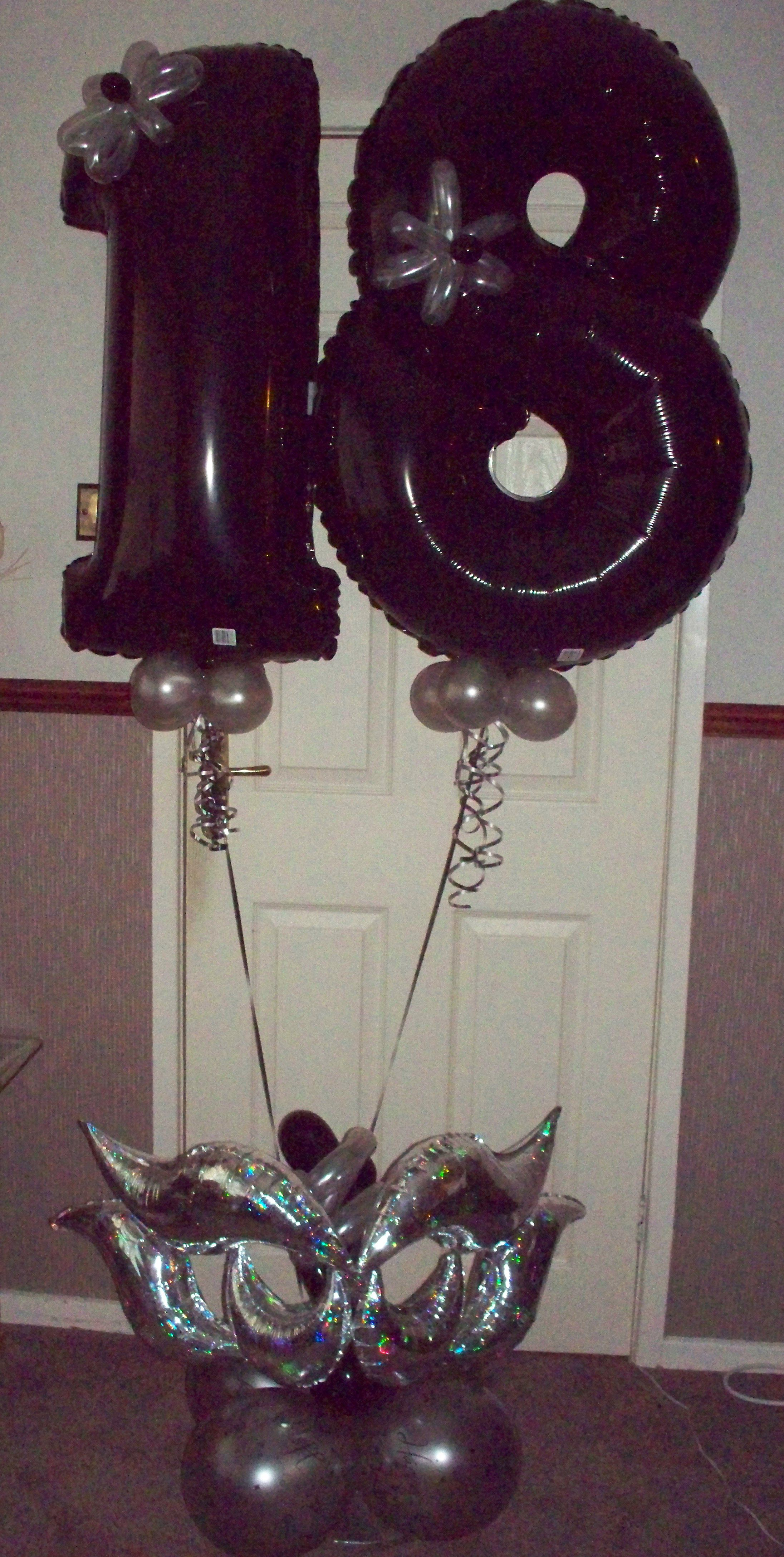 18th Birthday Mardi Gras Balloon Base THEME nameswordsnumbers