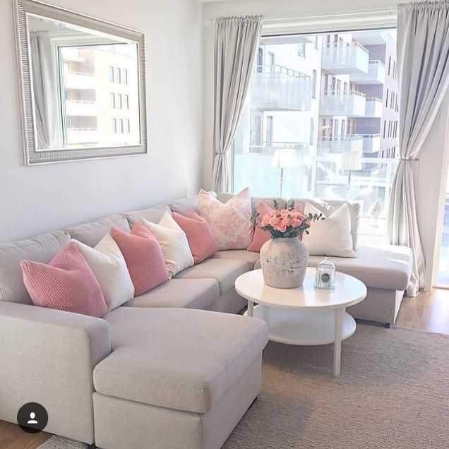 Ideas For Decorating Plush Pink Sofa Living Room: Living Room Designs, Living Room