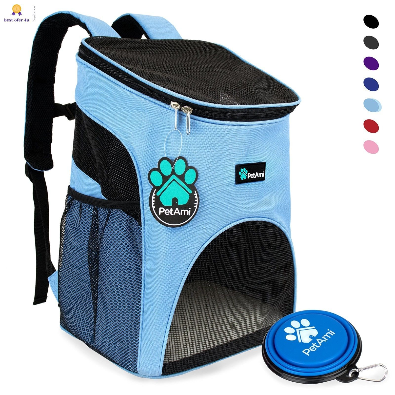 06cd9b2586d Premium Pet Carrier Backpack for Small Cats and Dogs by PetAmi | Ventilated  Desi | eBay