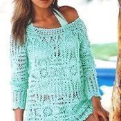 Crochet Top-J.Lo Tunic Top