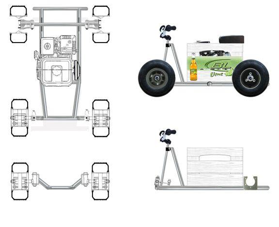 bar stool racer frame plans