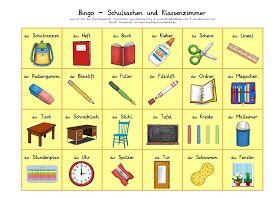 Bingo Deutschunterricht Rechtschreibung