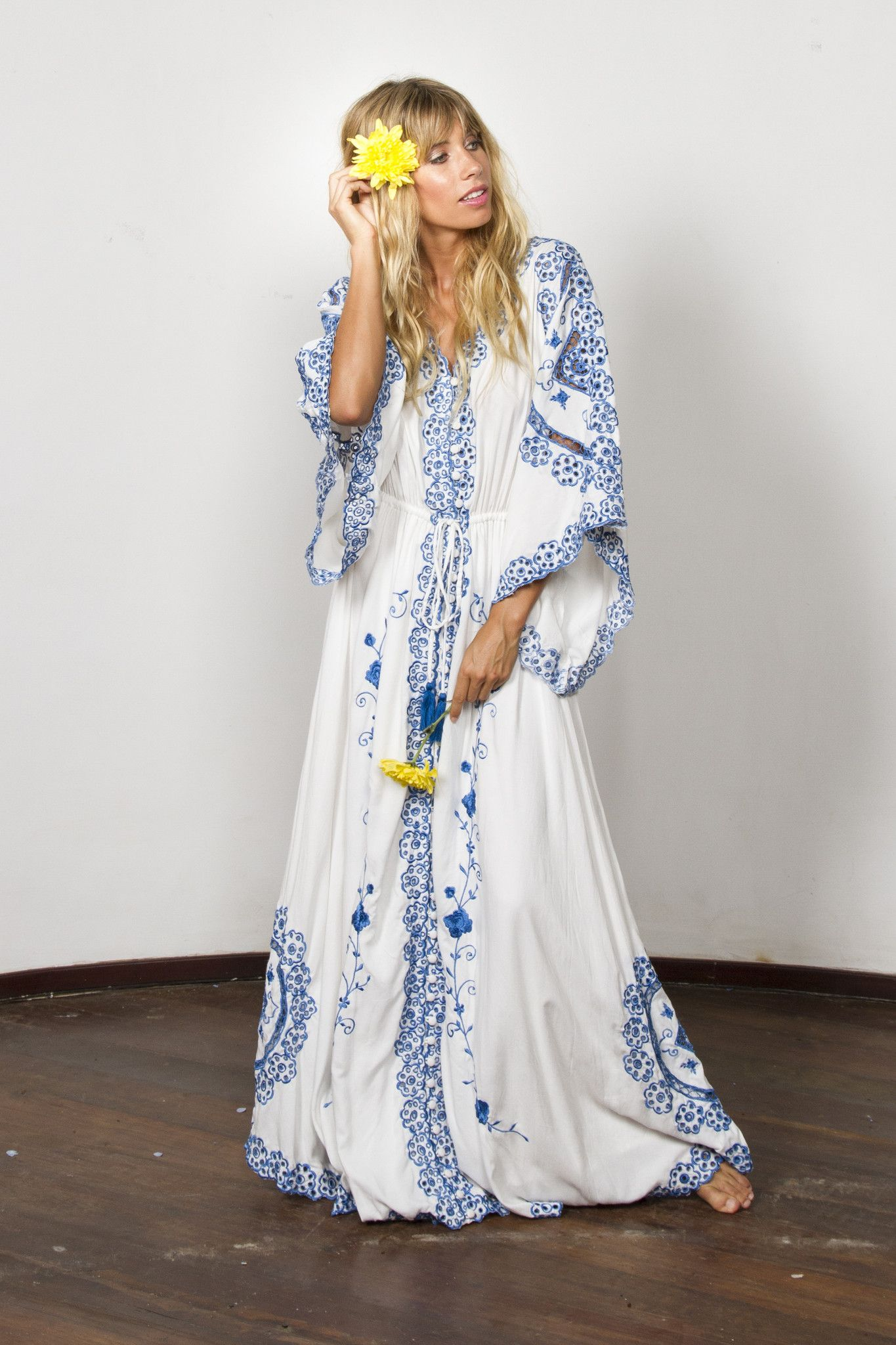 888d021f4a68e cleo' duster - royal blue in 2019 | Currently Coveting | Hippie ...