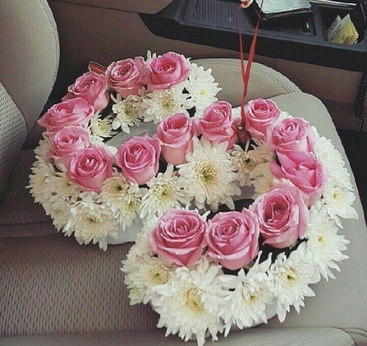 حروف الورد Flower Arrangements Floral Letters Flower Gift