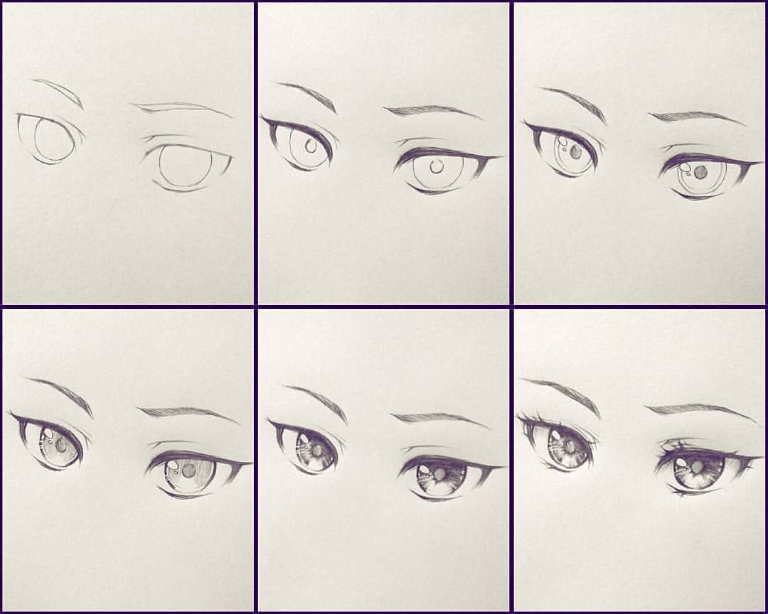 خطوات رسم عين انمي Manga Tutorial Sketch Book Drawing Lessons