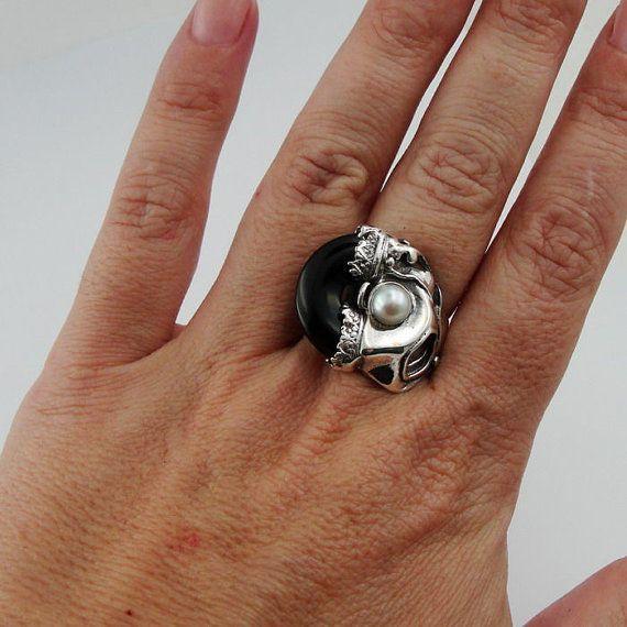 Donna di Israele a mano unico 925 argento onice e di hadarjewelry