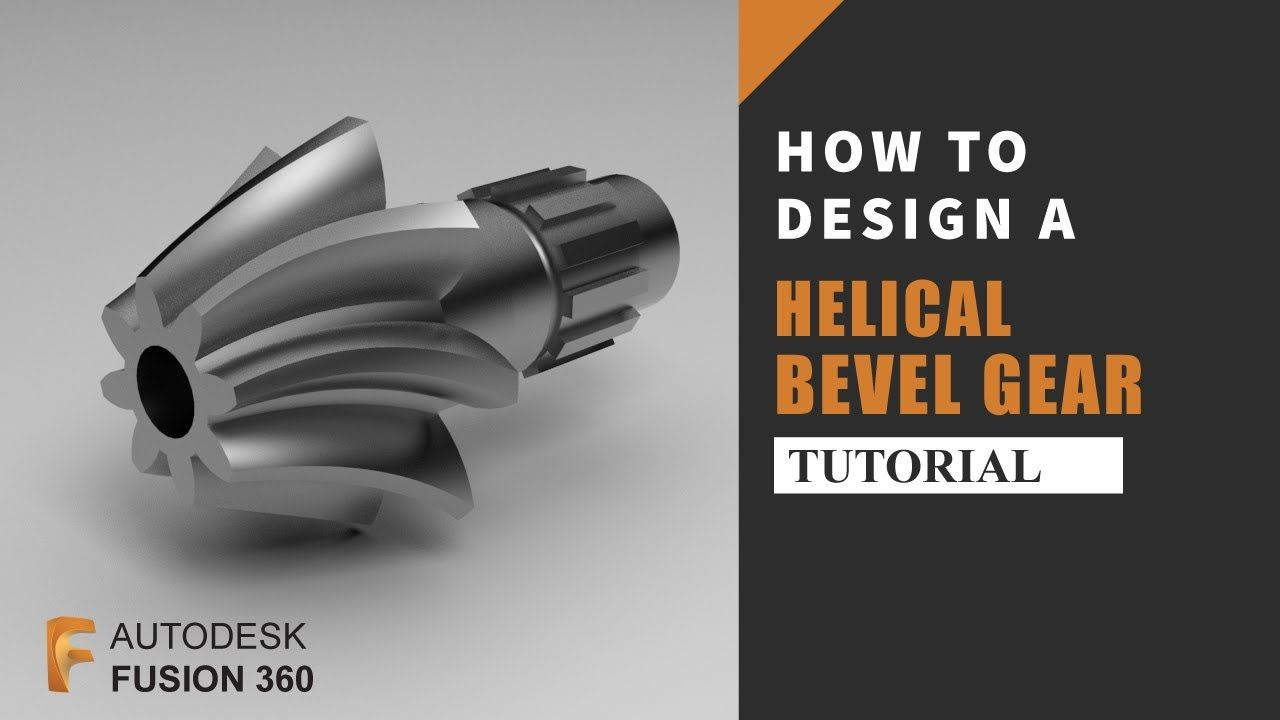 How To Design A Helical Bevel Gear In Autodesk Fusion360 Autodesk Fusion 360 Tutorial Bevel Gear Bevel Autodesk