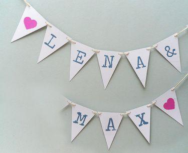 Wimpelkette für Hochzeiten - dawanda