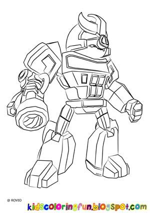 Colouring In Sheets Transformers : Angry birds transformer galvatron color your heart out