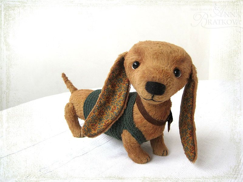 Sold Out Doxie Soft Sculpture By Ann Bratkova Kiev Ukraine On