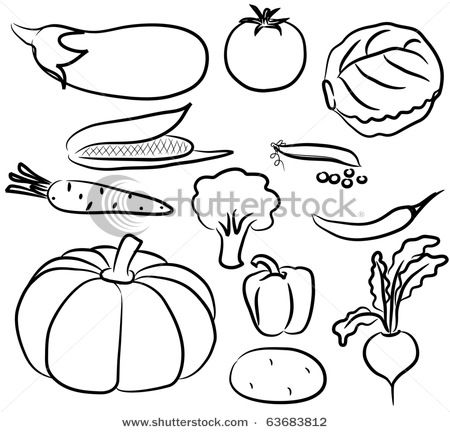 Fruits And Vegetables Clip Art Black And White Drawings Of Animals Silhouette Icons Of Various Vegetables Vector Clip Art Picture Nnvht Cricut Clip Art Pictures Black White Drawing Animal Silhouette