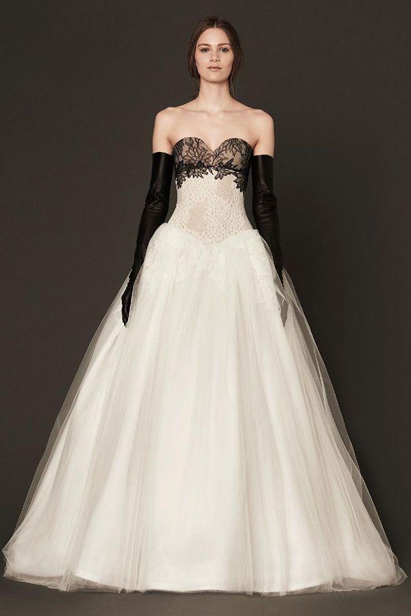 Vera Wang Spring 2014 Bridal Collection Black Wedding Dresses Vera Wang Bridal Black White Wedding Dress
