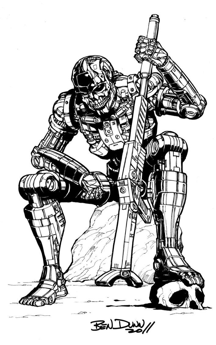 Terminator Ben Dunn Desenhos Robos Exterminador Do Futuro