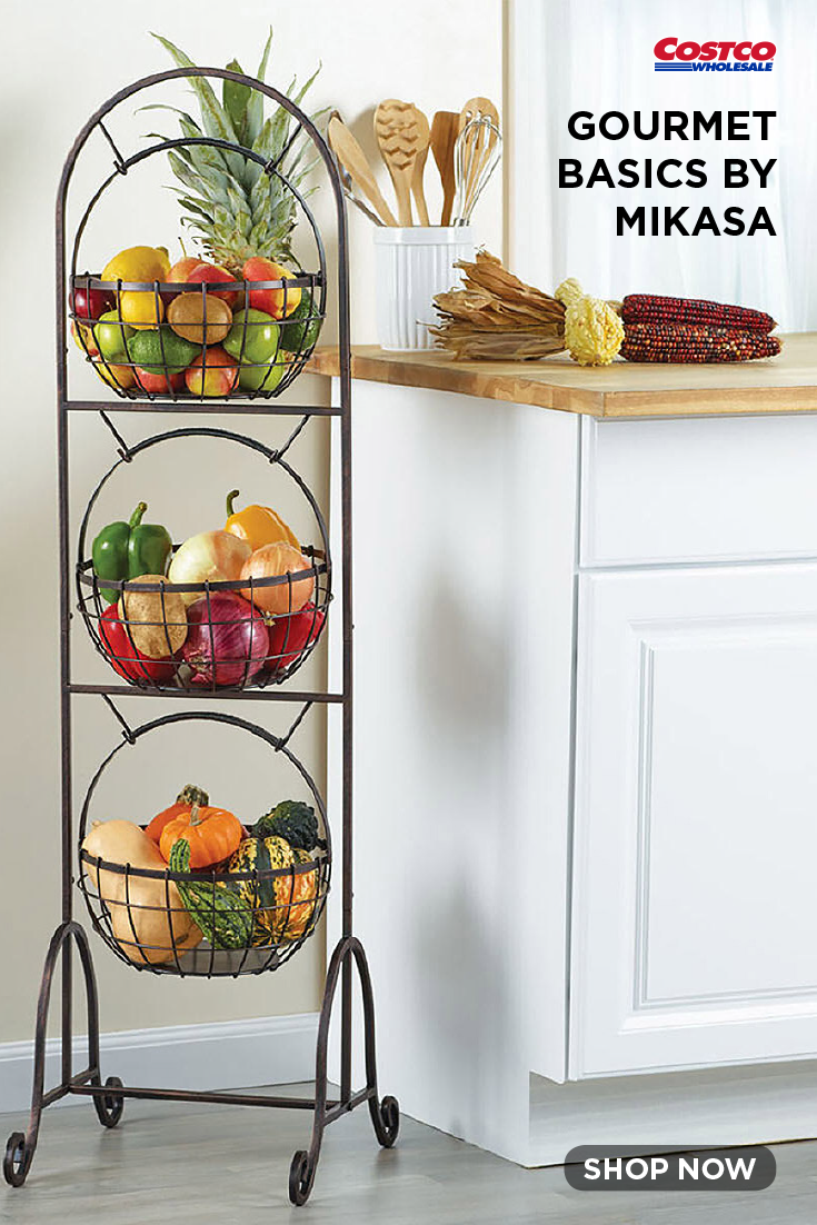 Gourmet Basics By Mikasa Homespun 3 Tier Market Basket Gourmet Basics By Mikasa Kitchen Decor Market Baskets