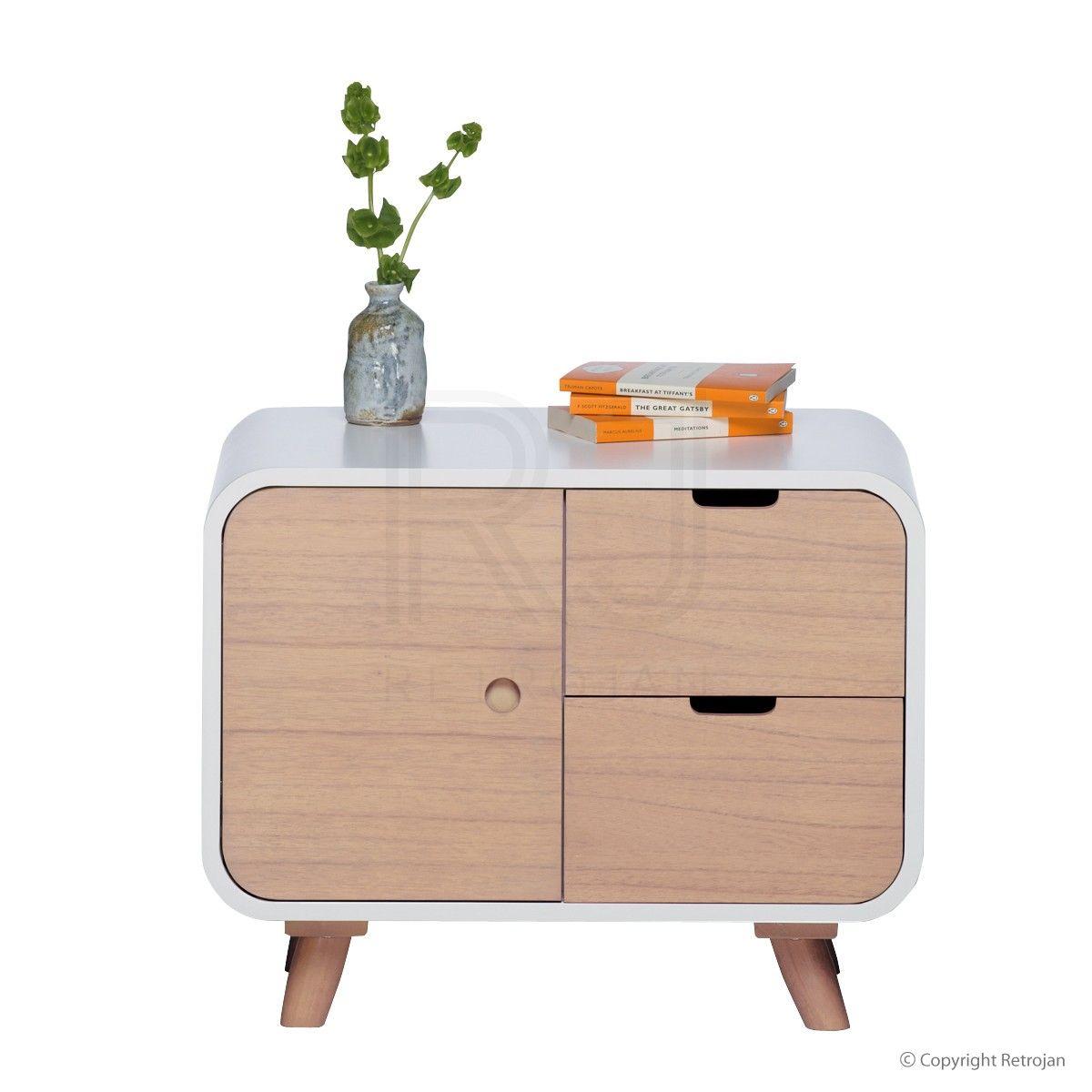 leo scandinavian style bedside table scandi. Black Bedroom Furniture Sets. Home Design Ideas