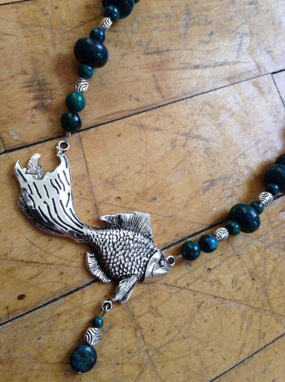Deep Blue Sea Necklace by SimpleDesignsStudio on Etsy, $35.00