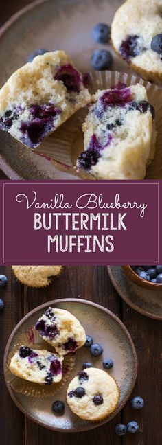 Vanilla Blueberry Buttermilk Muffins - Lovely Little Kitchen