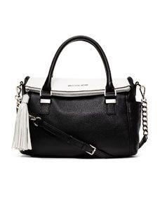 michael kors medium weston two tone satchel gotta have this bag rh pinterest com