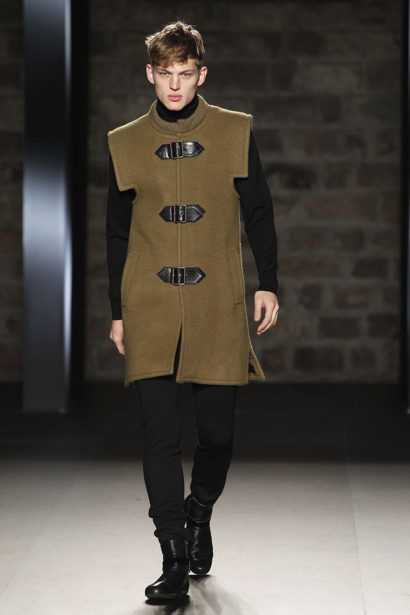 Sebastian Sauve for Pierre Cardin F/W 2012 at 080 Barcelona Fashion. Coat