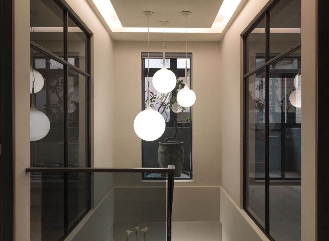 modern stairwell lighting. this multilevel contemporary apartment was designed by the taiwanbased wch studio interior is characterized elegant pale neutrals modern stairwell lighting o