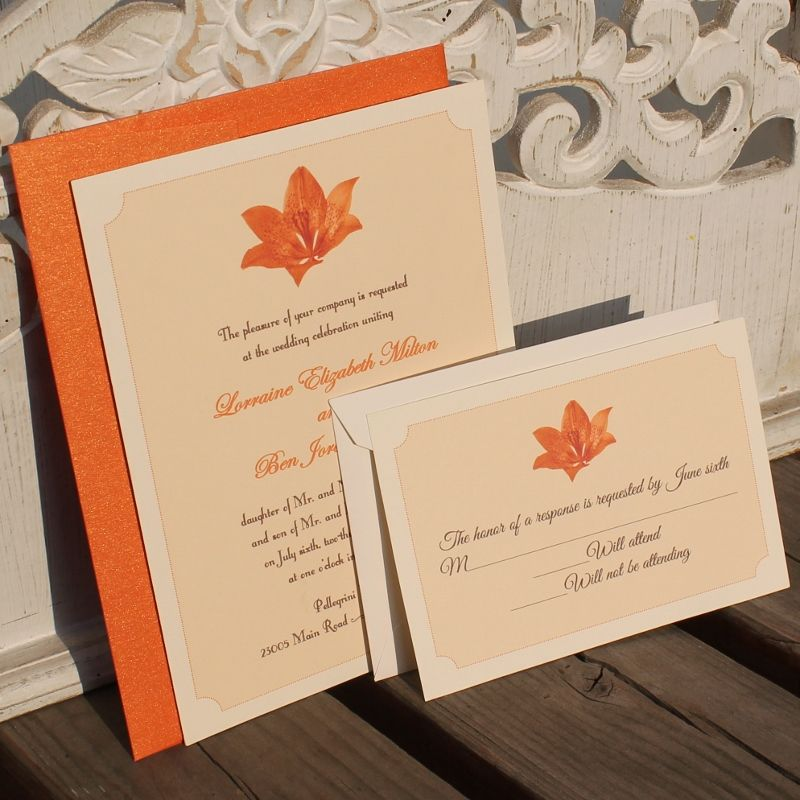 Classic Lily Wedding Invitation