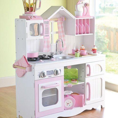 Cocinita De Madera Grande Modern Country Kidkraft Muebles Para Niños Cocina De Juego Para Niños Muebles Niños